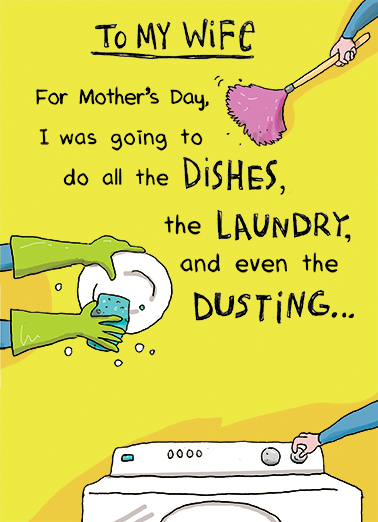 funny mother s day card do the dishes from cardfool com
