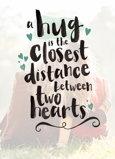 Funny miss you card hug closest distance from cardfool m4hsunfo