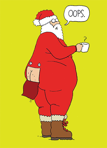 funny christmas card santa butt from cardfoolcom - Personalized Christmas Cards No Photo