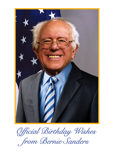 Official Bernie Birthday Ecard Cover