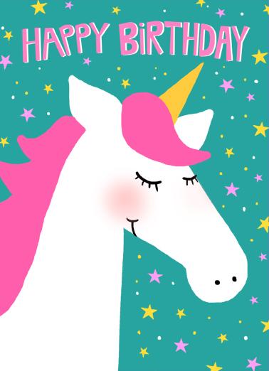 Unicorn Birthday Ecard Cover